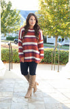 Multi Stripe Pullover Sweater