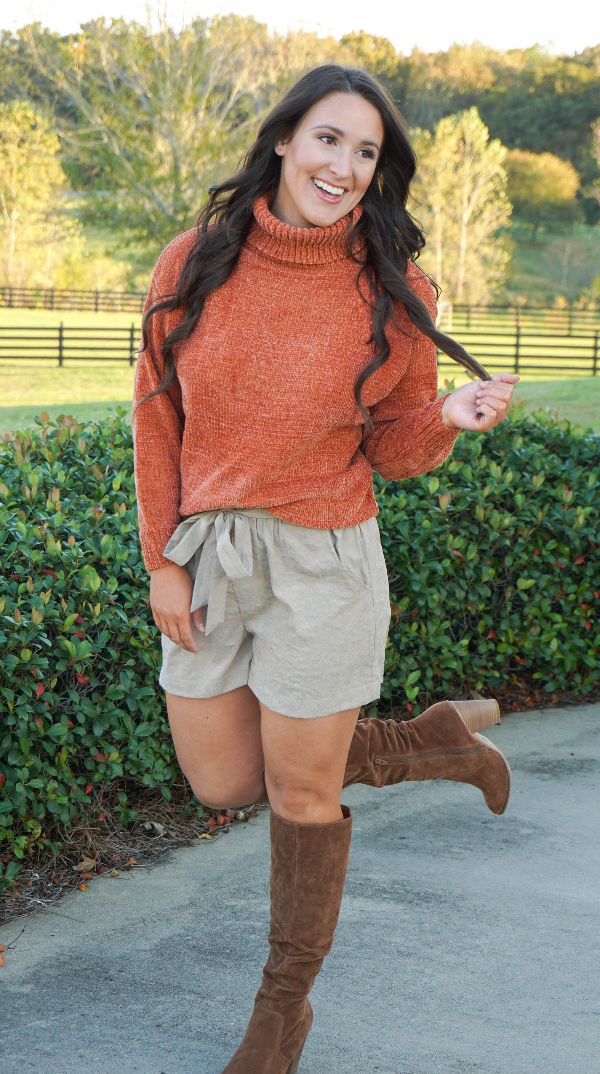 Rust Turtle Neck Sweater