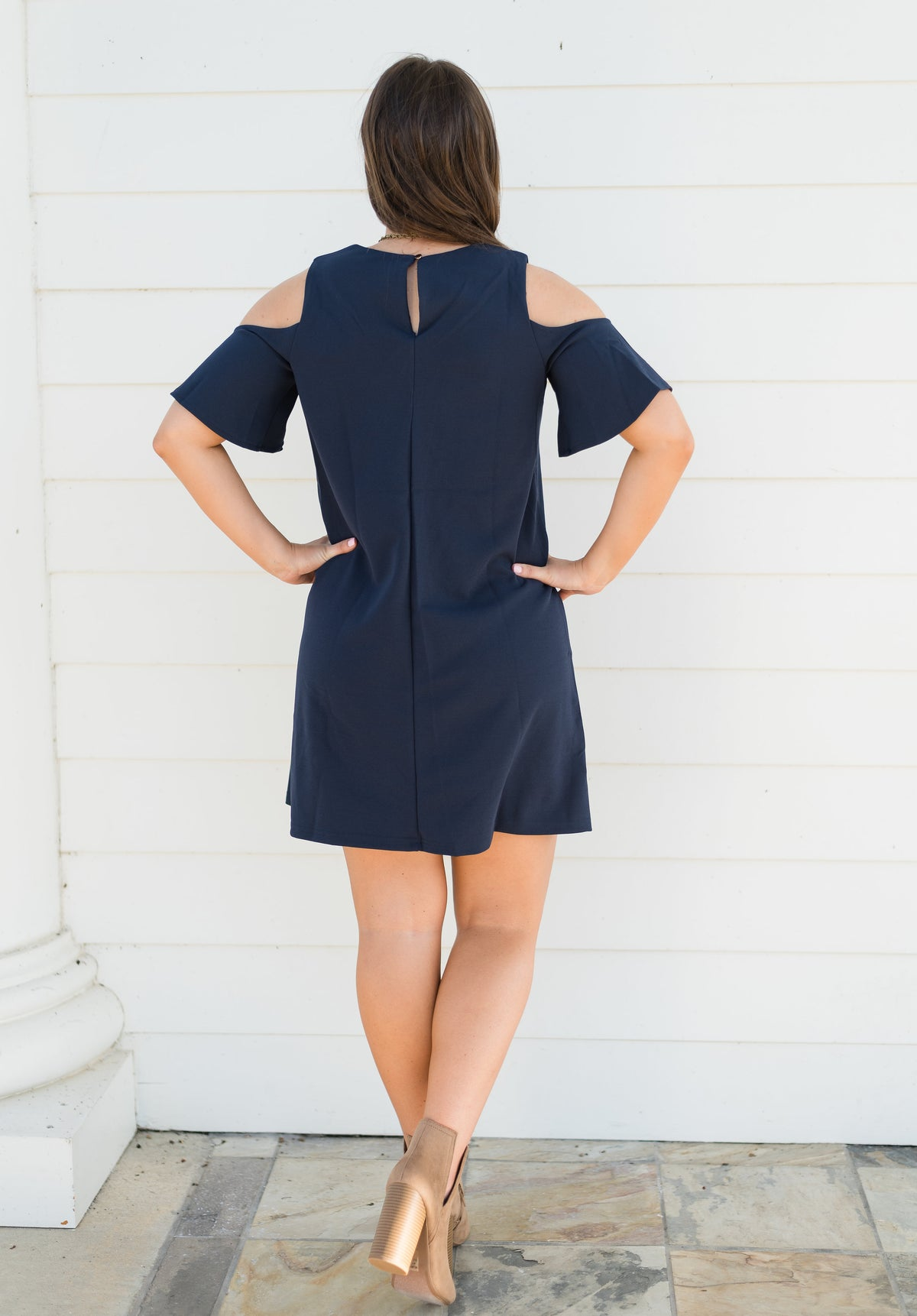 Here For You Dress-Navy