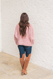 Chenille Oversized Sweater-Canyon Rose