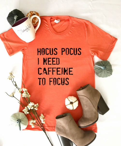 Hocus Pocus Tee - Heather Orange