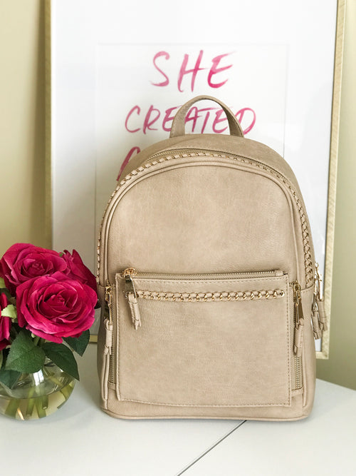 On The Move Backpack - Taupe