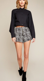 Leopard High Waisted Shorts