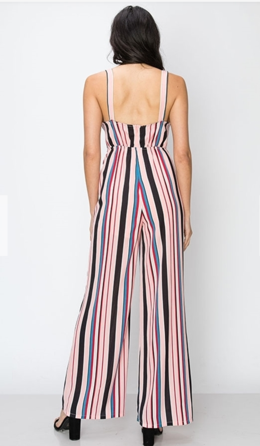 Pink Multi Stripe Jumpsuit