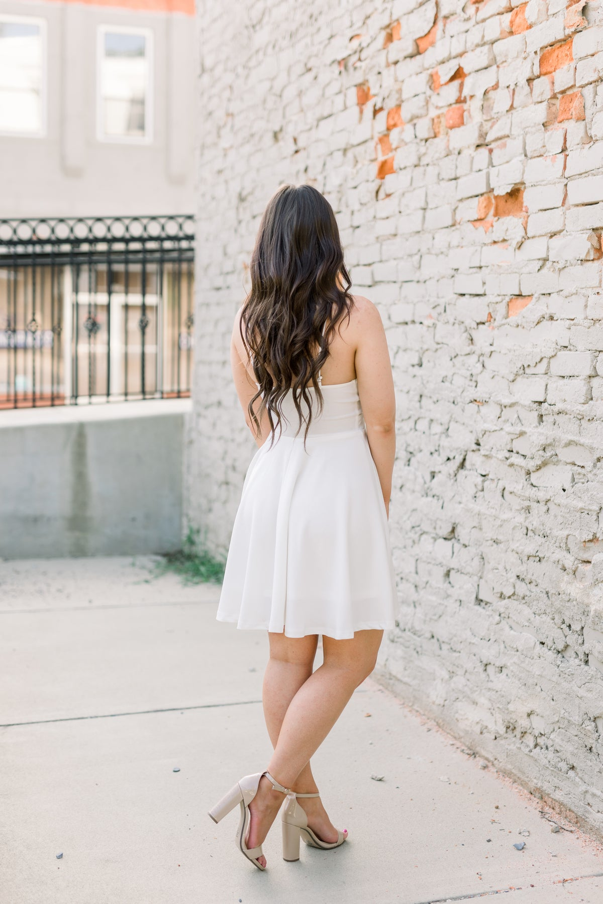 Fit & Flare Beauty Dress - White