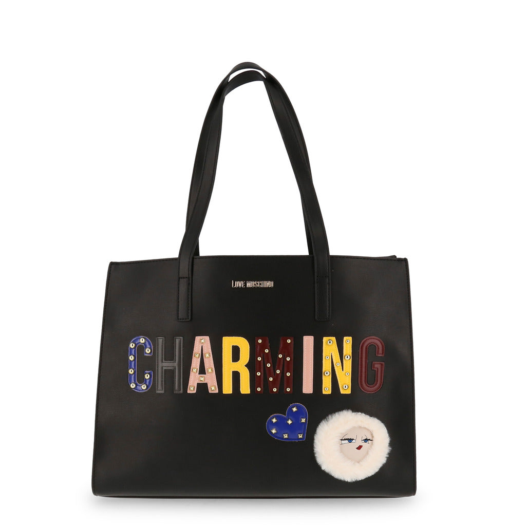 Love Moschino - JC4268PP06KJ-Bags Shopping bags-Love Moschino-Shopping Bags for Women-Ideo Q LLC