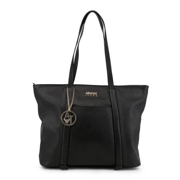 AJ - Logo Charm Shopper-Bags Shopping bags-Armani Jeans-Shopping Bags for Women-Ideo Q LLC