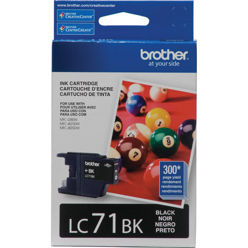 Brother Printer LC71BK Standard Yield Black Ink
