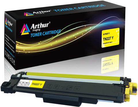 Arthur Imaging with CHIP Compatible Toner Cartridge Replacement for Brother TN227 (Yellow, 1 Pack)