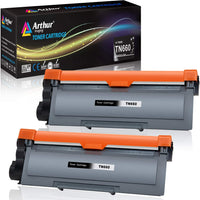Arthur Imaging Compatible Toner Cartridge Replacement for Brother TN630 TN660 (Black, 2 Pack)