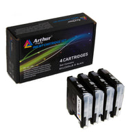 Arthur Imaging Compatible Ink Cartridge Replacement for Brother LC-103XL (4 Black, 4-Pack)