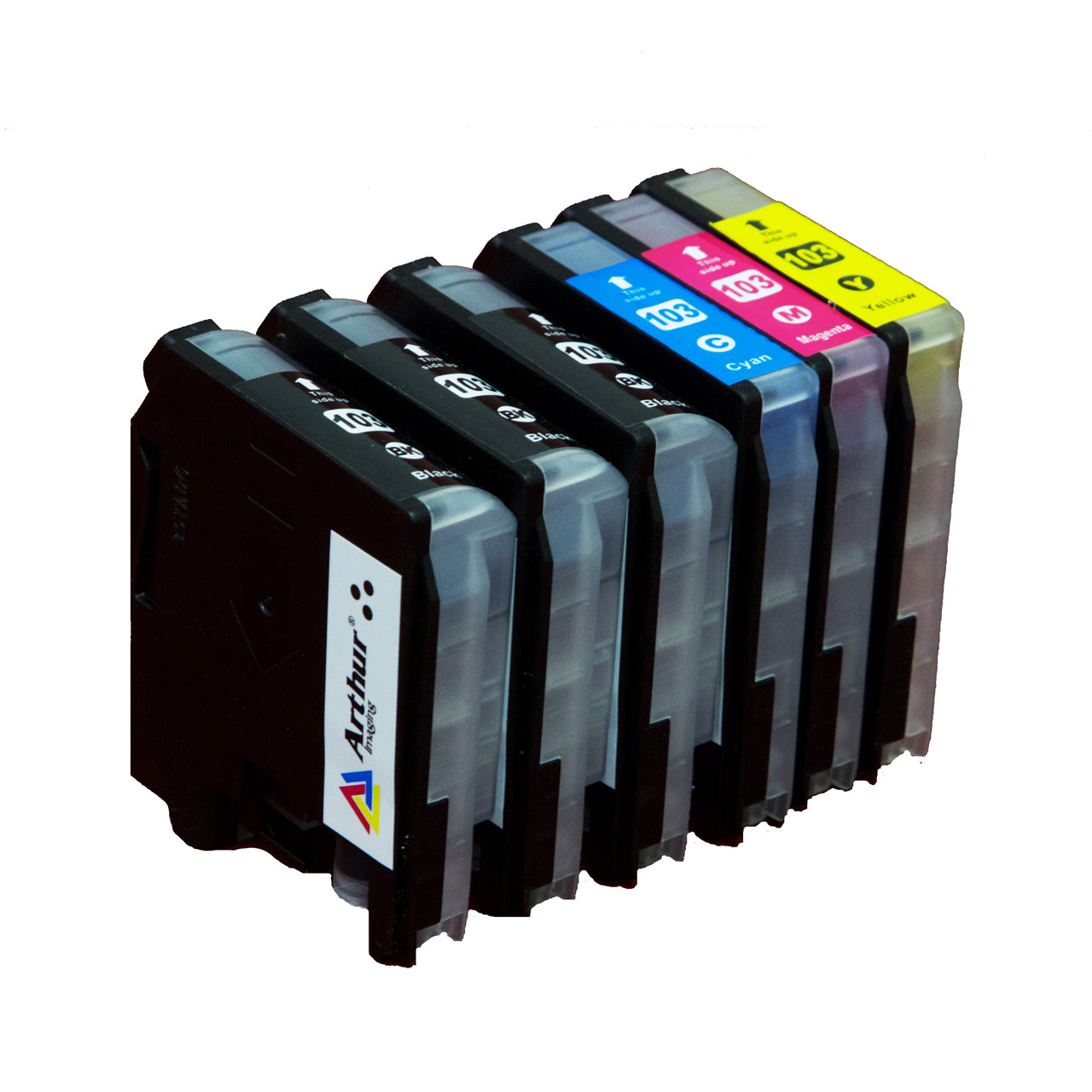 Arthur Imaging Compatible Ink Cartridge Replacement for Brother LC-103XL (3 Black, 1 Cyan, 1 Yellow, 1 Magenta, 6-Pack)