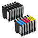 Arthur Imaging Compatible Ink Cartridge Replacement for Brother LC-203XL (6 Black, 2 Cyan, 2 Yellow, 2 Magenta, 12-Pack)