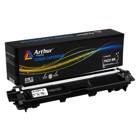 Arthur Imaging Compatible Toner Cartridge Replacement for Brother TN221 (Black, 1-Pack)