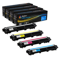 Arthur Imaging Compatible Toner Cartridge Replacement for Brother TN221 TN225 (Black, Cyan, Yellow, Magenta, 4-Pack)
