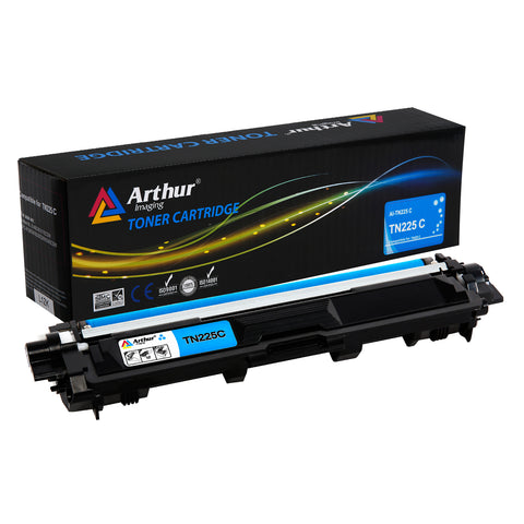 Arthur Imaging Compatible Toner Cartridge Replacement for Brother TN225 (Cyan, 1-Pack)