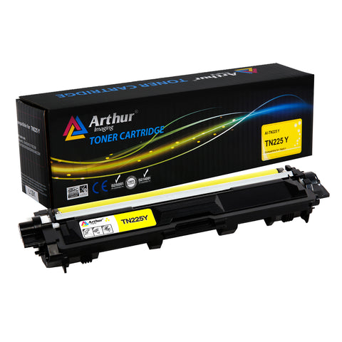 Arthur Imaging Compatible Toner Cartridge Replacement for Brother TN225 (Yellow, 1-Pack)