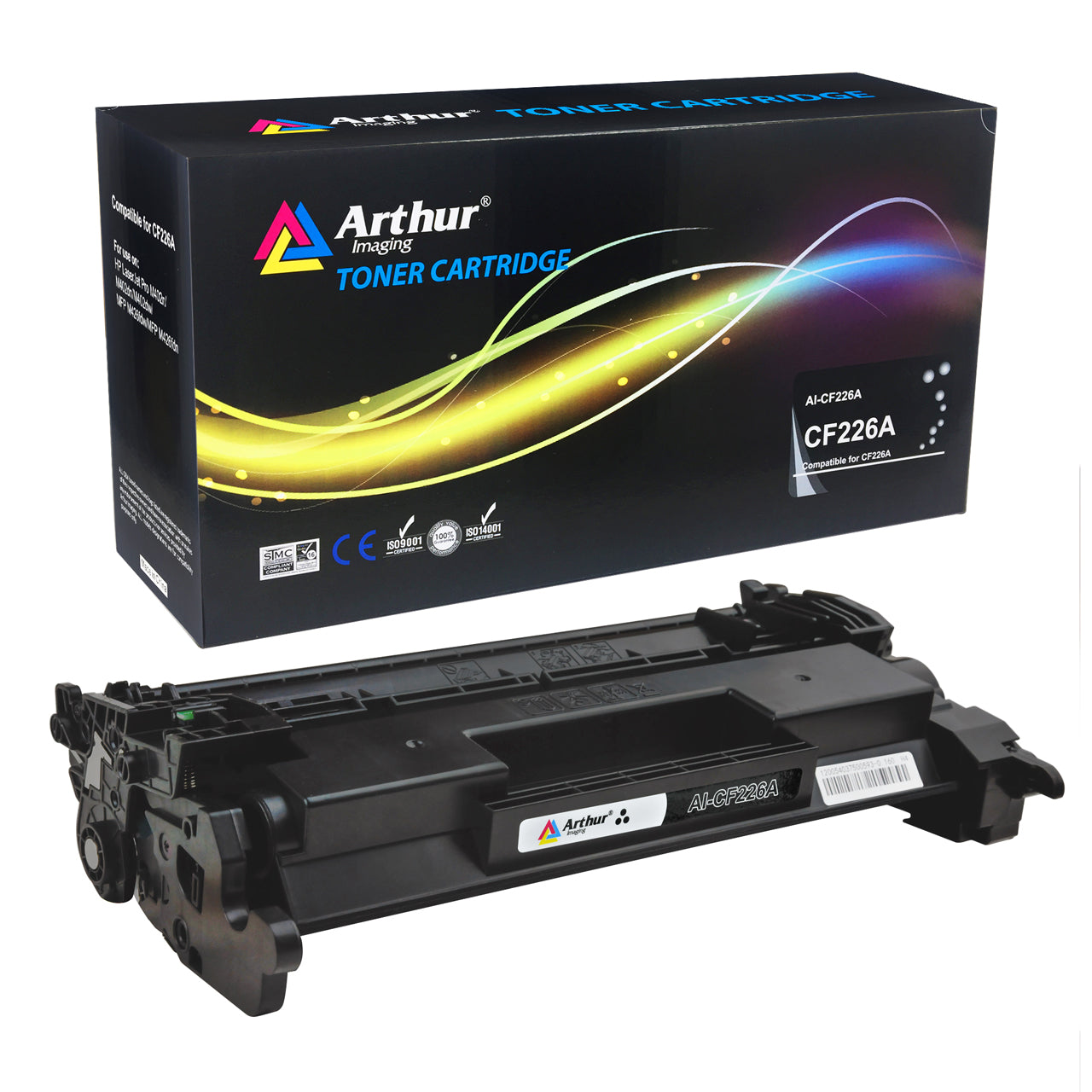 Arthur Imaging Compatible High Yield Toner Cartridge Replacement for HP CF226A CF226X (Black, 1-Pack)