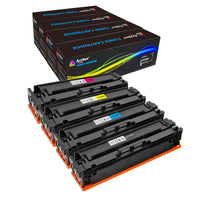 Arthur Imaging Compatible High Yield Toner Cartridge Replacement for HP201X, CF400X, CF401X, CF402X, CF403X (Black, Cyan, Magenta, Yellow, 4-Pack)