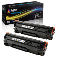 Arthur Imaging Compatible Toner Cartridge Replacement for Canon 128 (3500B001AA) (Black, 2-Pack)