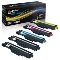 Arthur Imaging Compatible Toner Cartridge Replacement for Brother TN223 TN227 (2 Black, 1 Cyan, 1 Yellow, 1 Magenta, 5-Pack)
