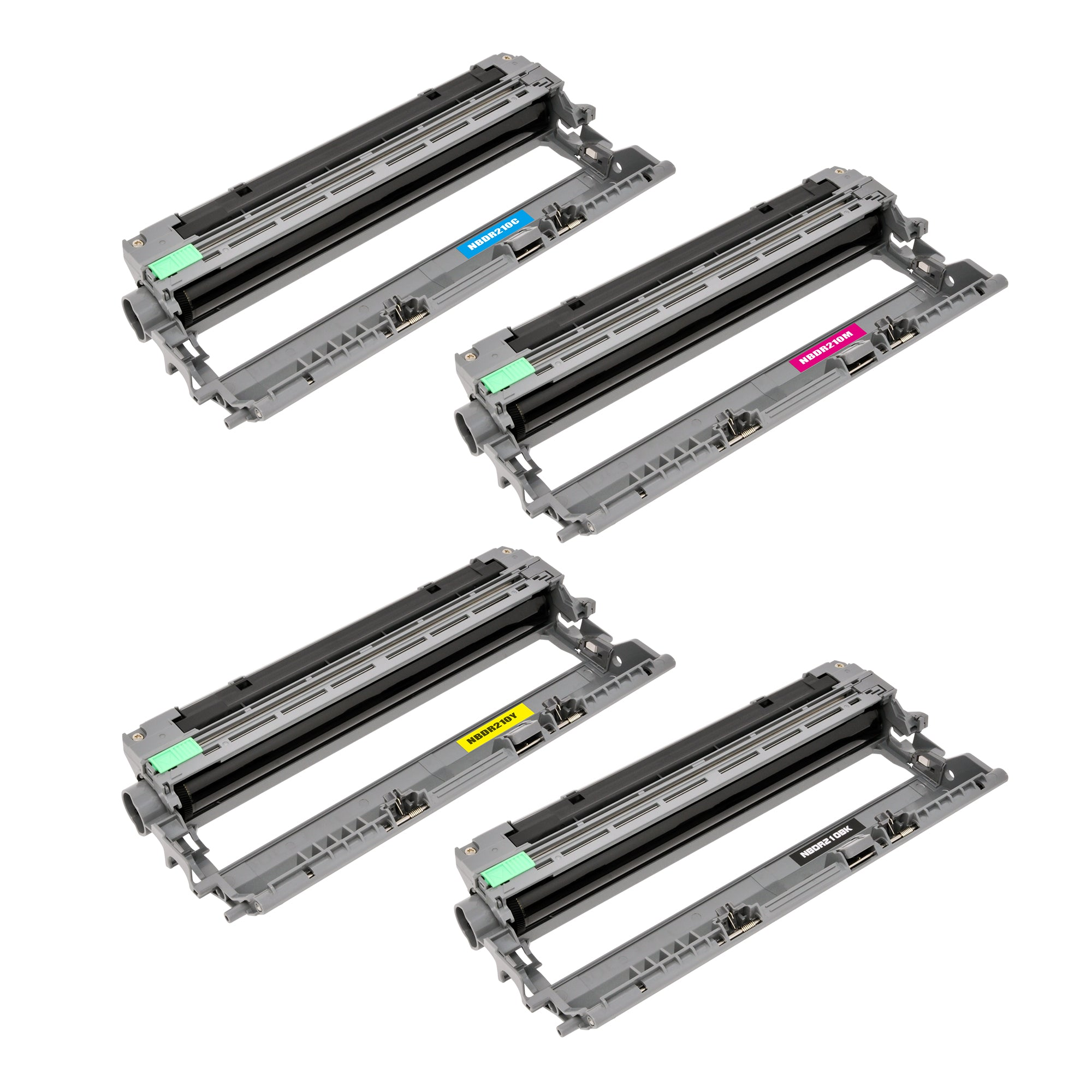 Arthur Imaging Compatible Drum Unit Set Replacement for Brother DR210 (B, C, M, Y, 4-Pack, Toner not Included)