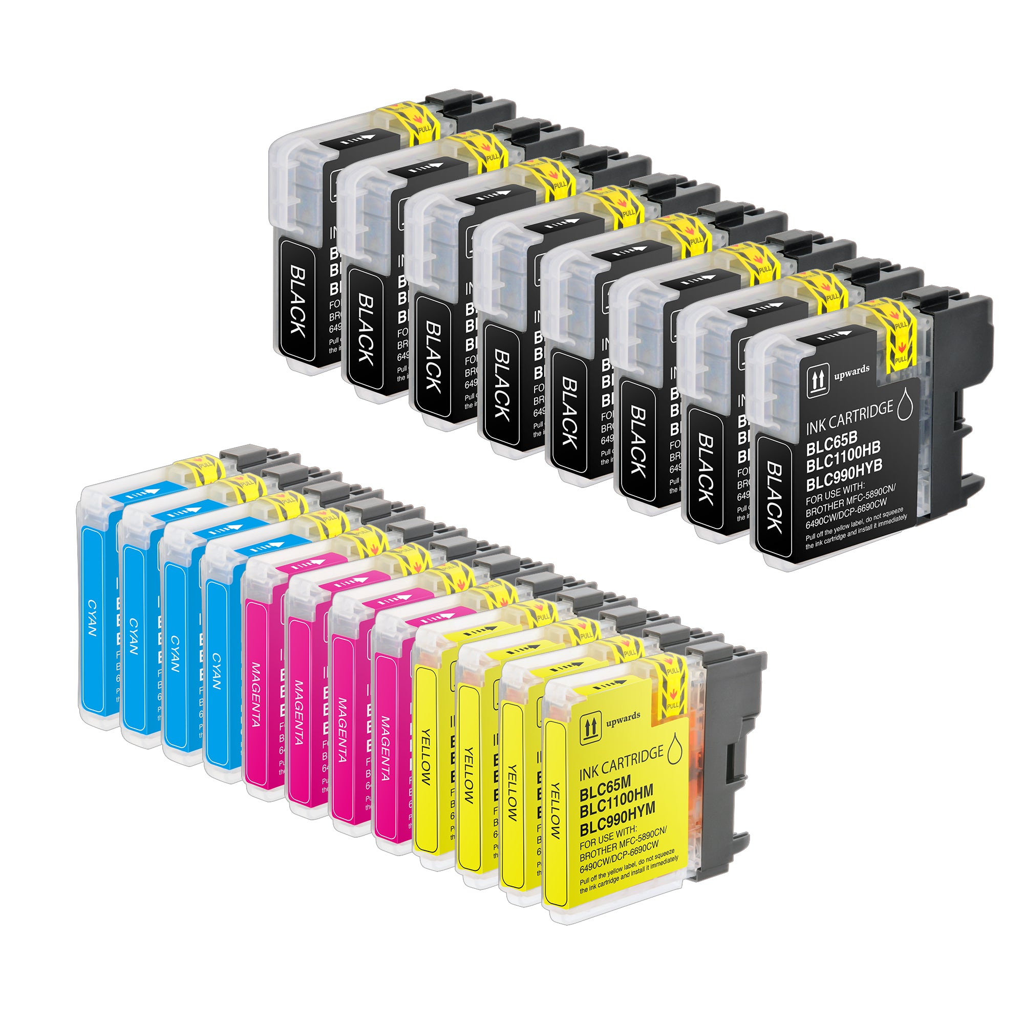 Arthur Imaging Compatible Ink Cartridge Replacement for Brother LC65 (8 Black, 4Cyan, 4Magenta, 4Yellow, 20-Pack)