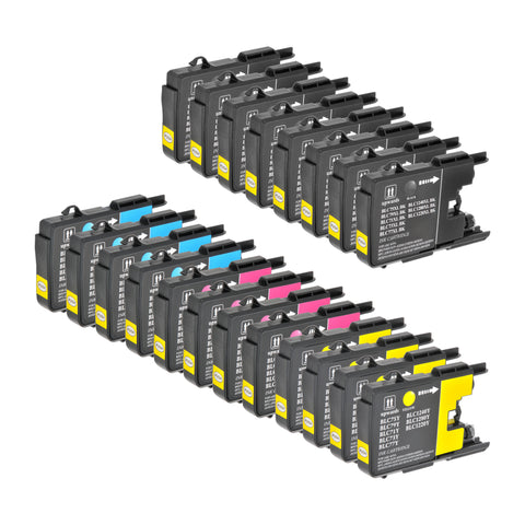 Arthur Imaging Compatible Ink Cartridge Replacement For Brother LC75xl (8 Black, 4 Cyan, 4 Magenta, 4 Yellow, 20-pack)