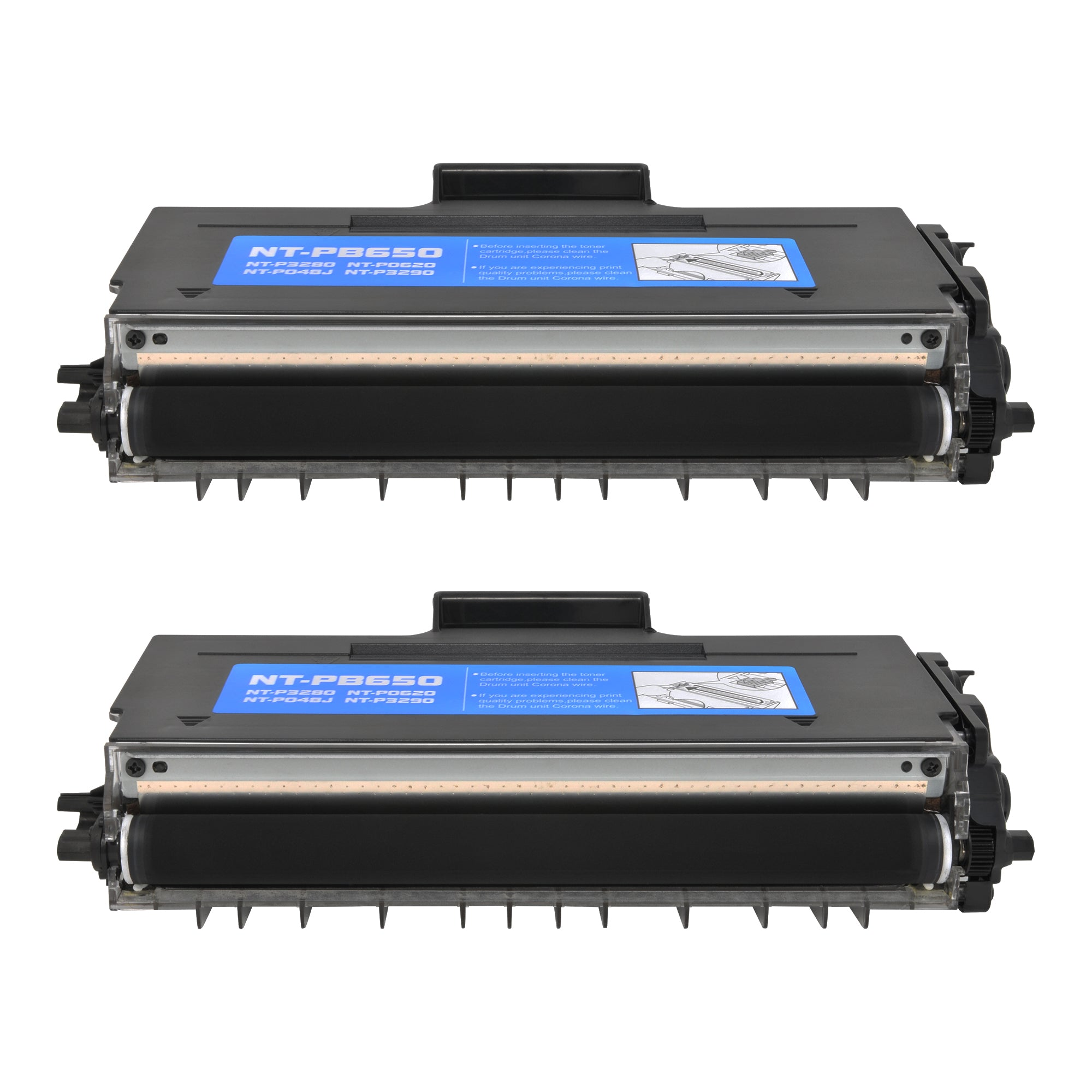 Arthur Imaging Compatible Toner Cartridge Replacement for Brother TN650 (Black, 2-Pack)