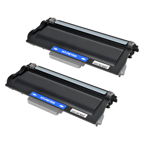 Arthur Imaging Compatible Toner Cartridge Replacement for Brother TN750 (Black, 2-Pack)