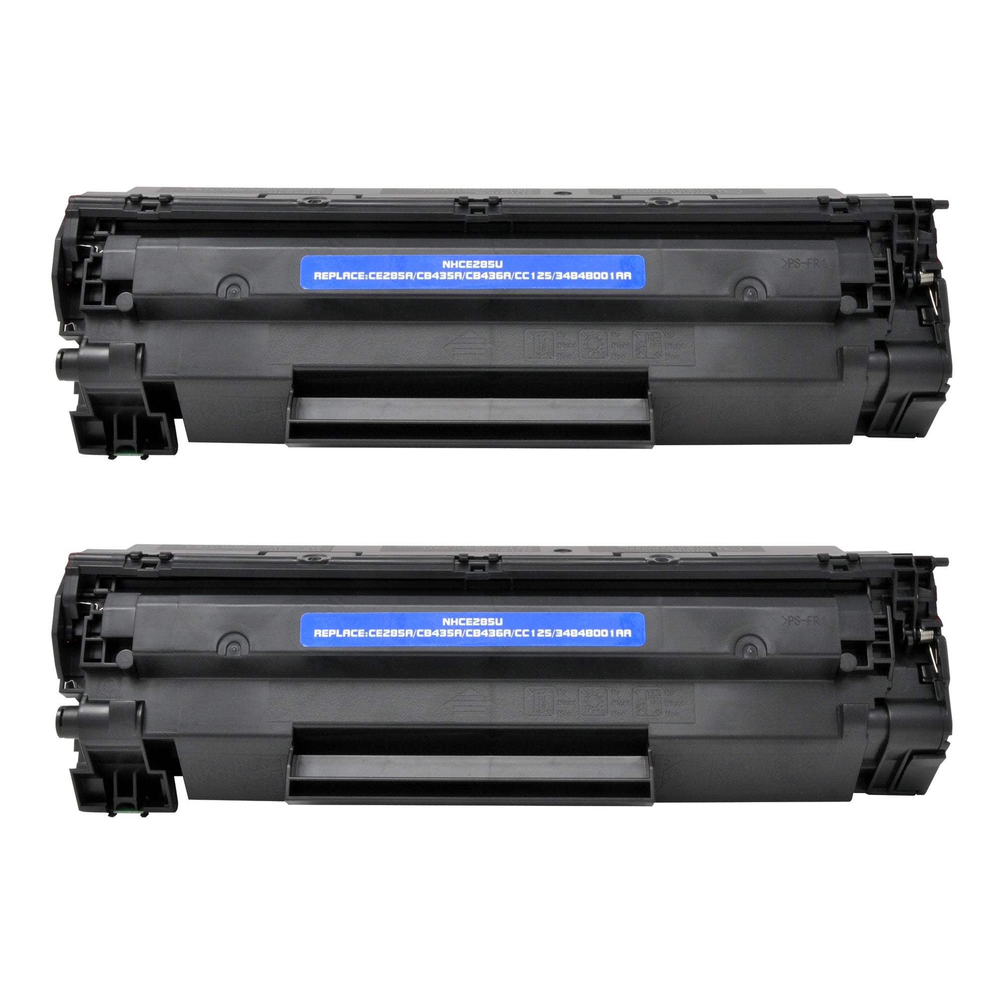 Arthur Imaging Compatible Toner Cartridge Replacement for Canon 125, 3484B001AA (Black, 2-Pack)