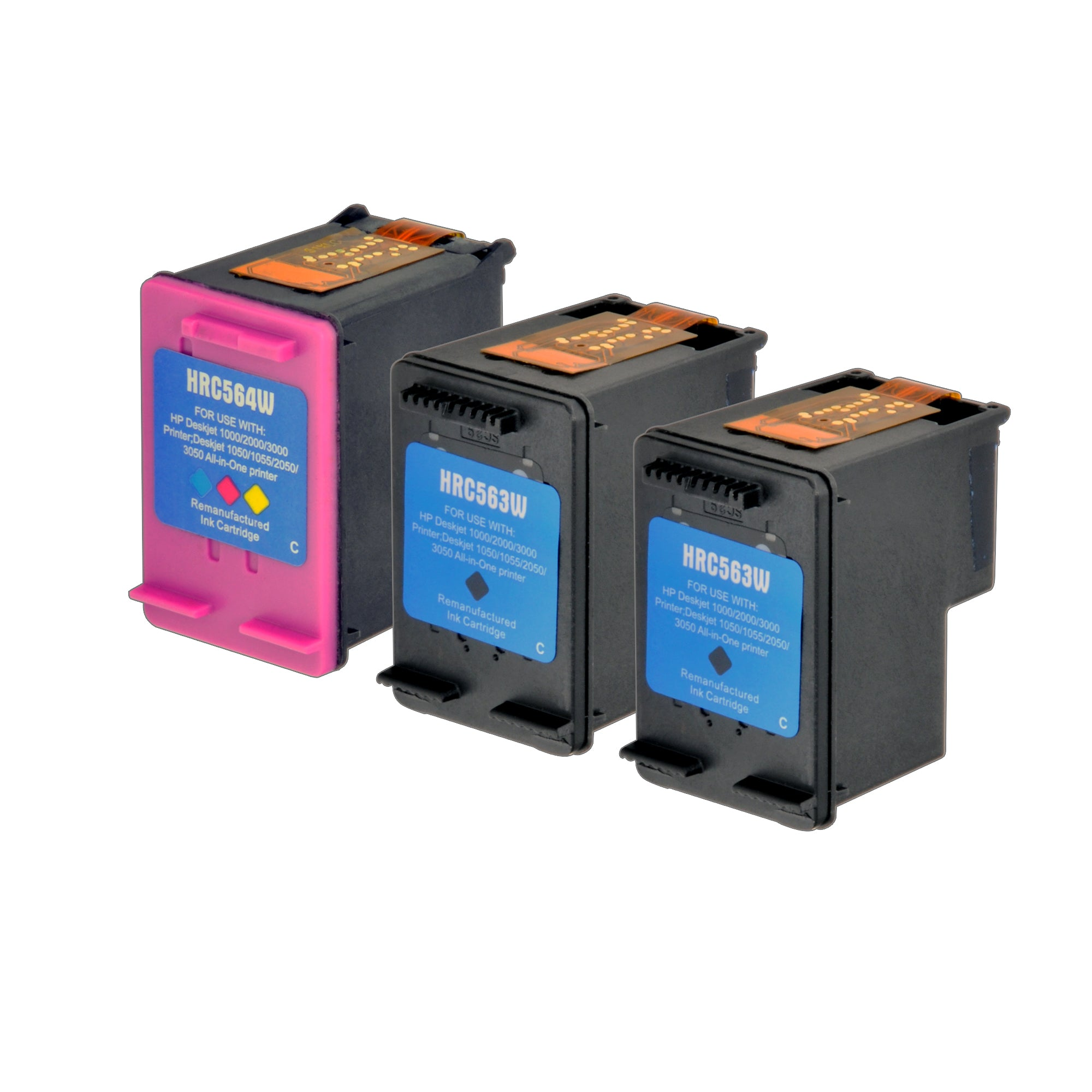 Arthur Imaging Remanufactured Ink Cartridge Replacement for HP 61XL (2 Black, 1 Tri-Color, 3-Pack)