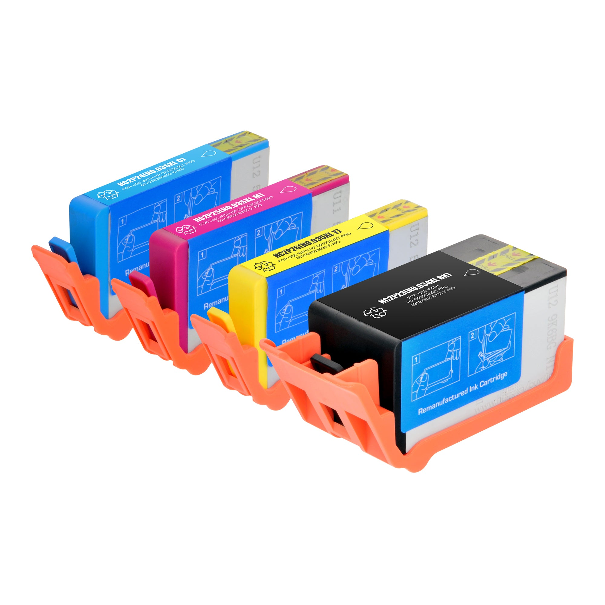 Arthur Imaging Remanufactured Ink Cartridge Replacement for HP 934XL & 935XL (1 Black, 1 Cyan, 1 Magenta, 1 Yellow, 4-Pack)