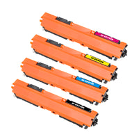 Arthur Imaging Compatible Toner Cartridge Replacement for HP CE310A (HP 126A, B, C, M, Y, 4-Pack)