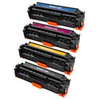 Arthur Imaging Compatible Toner Cartridge Replacement for HP CE410A (HP 305A, 1 Black, 1 Cyan, 1 Magenta, 1 Yellow, 4-Pack)