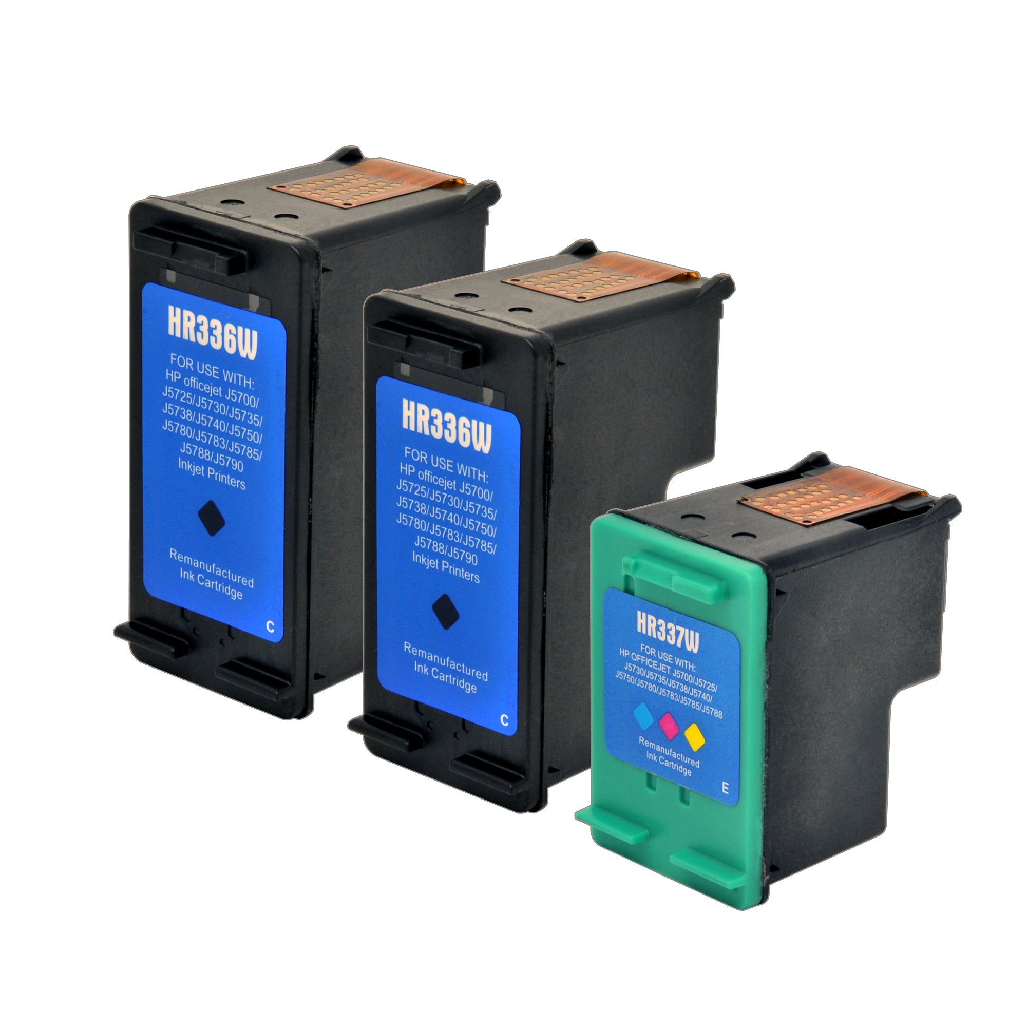 Arthur Imaging Remanufactured Ink Cartridge Replacement for HP 74 & 75 (2 Black, 1 Tri-Color, 3-Pack)