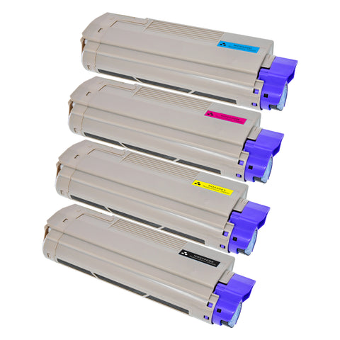 Arthur Imaging Compatible Toner Cartridge Replacement for OKI 5500 (1 Black, 1 Cyan, 1 Magenta, 1 Yellow, 4-Pack)