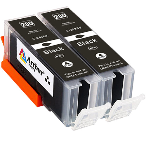 Arthur Imaging Compatible Ink Cartridge Replacement for Canon PGI-280XXL use with PIXMA TS9120 TS8120 TS8220 (PGBK) 2 Pack