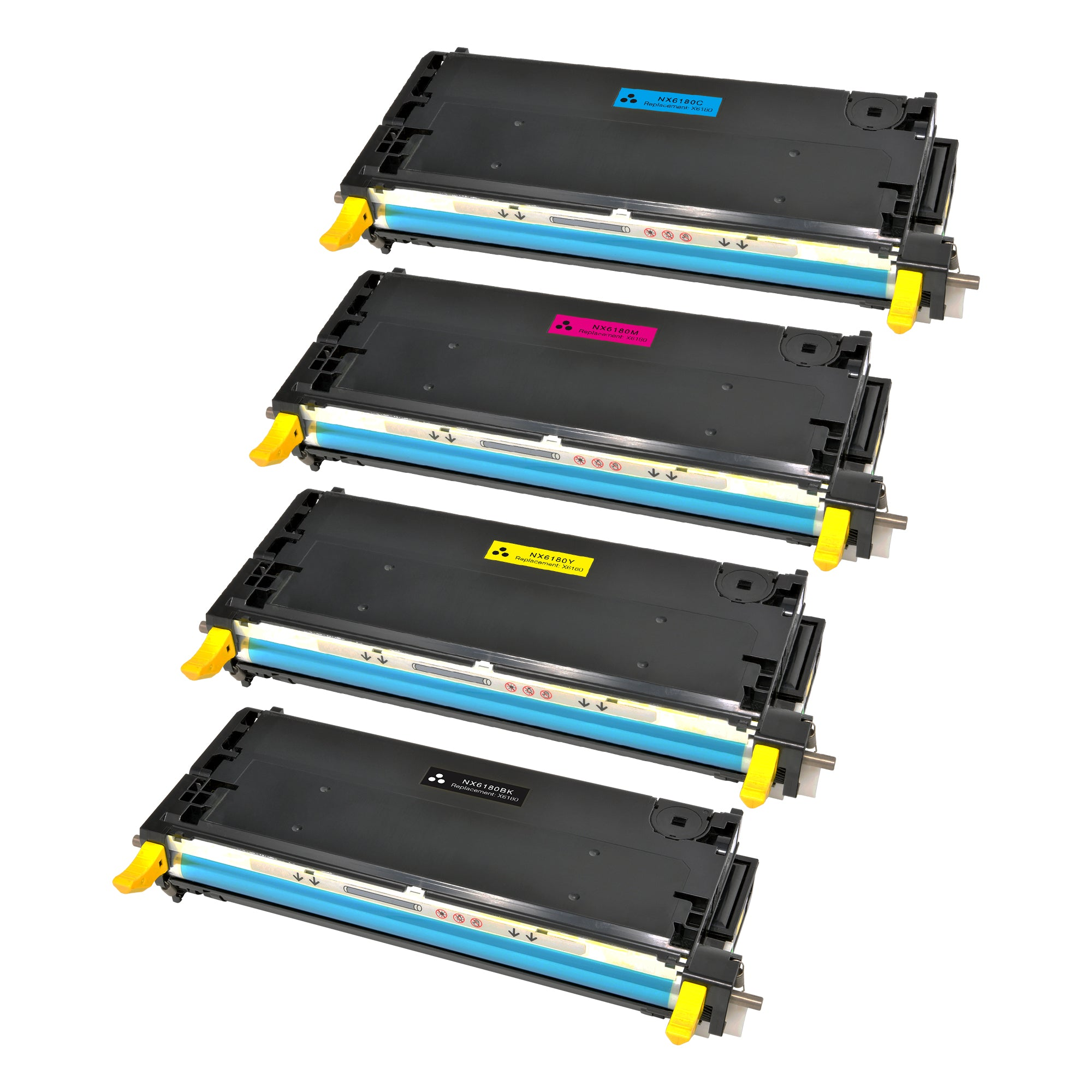 Arthur Imaging Compatible Toner Cartridge Replacement for Xerox Phaser 6180 Set (1 Black, 1 Cyan, 1 Magenta, 1 Yellow, 4-Pack)
