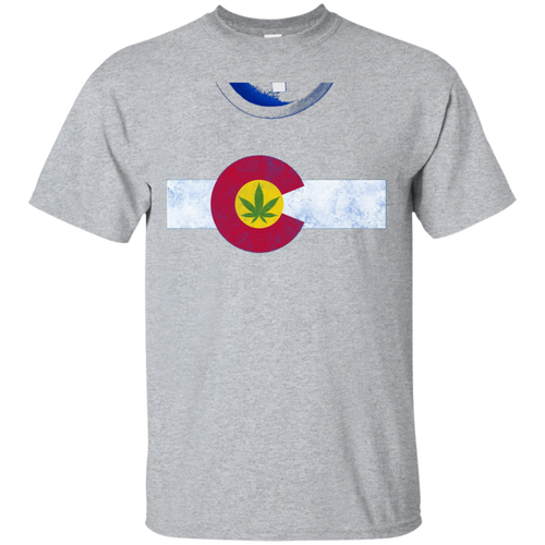 e0dcc1d20 Colorado-State-Flag-Marijuana-Weed-Cannabis-Retro-T-