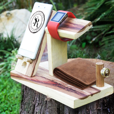 Portable wooden seat & wine holder