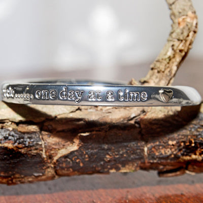 Silver Plated Bracelet Every day is a miracle one day at a time