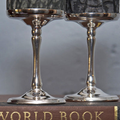 Silver Plated Ice Bucket & 2 Wine Goblets