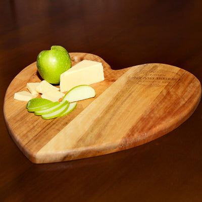 Kiaat Wood Heart Shaped Chopping Board