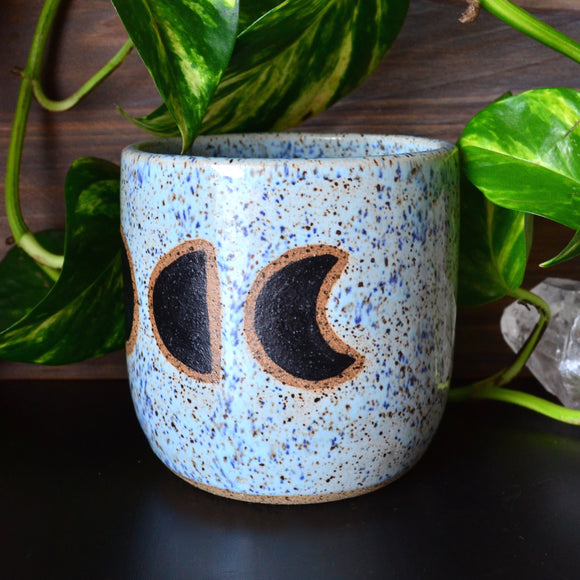 Moon Phase Candle • Blue Heron Glaze • MADE TO ORDER CANDLE