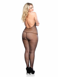 PLUS HALTER CUPLESS BODYSTOCKING