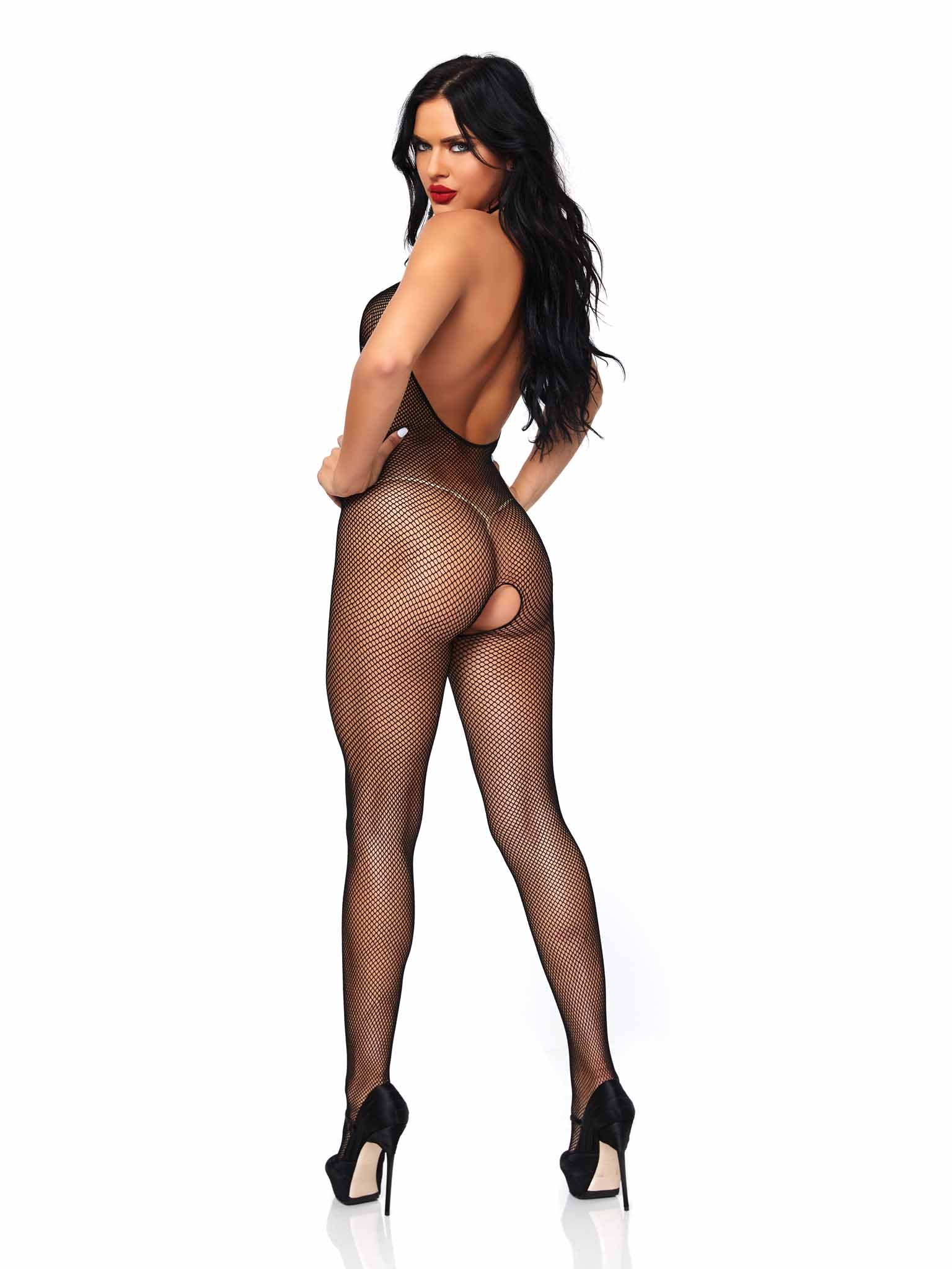 CUPLESS FISHNET BODYSTOCKING