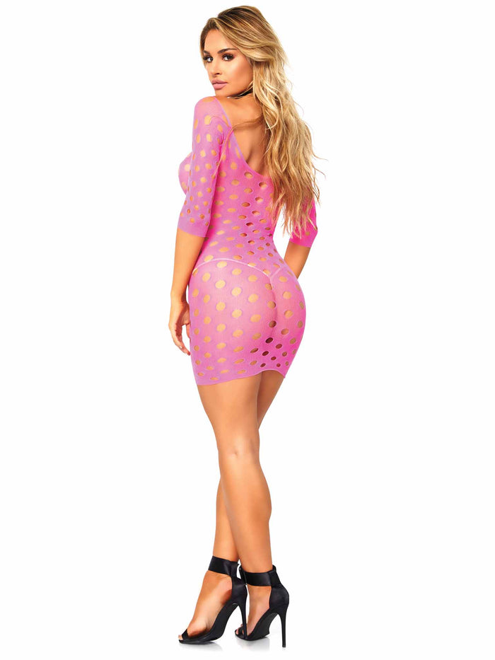 SEAMLESS POTHOLE MINI DRESS