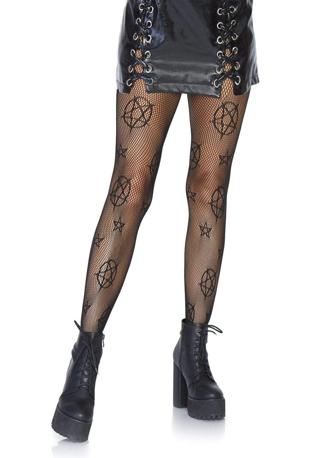 legavenue.com Occult Symbol Fishnet Tights