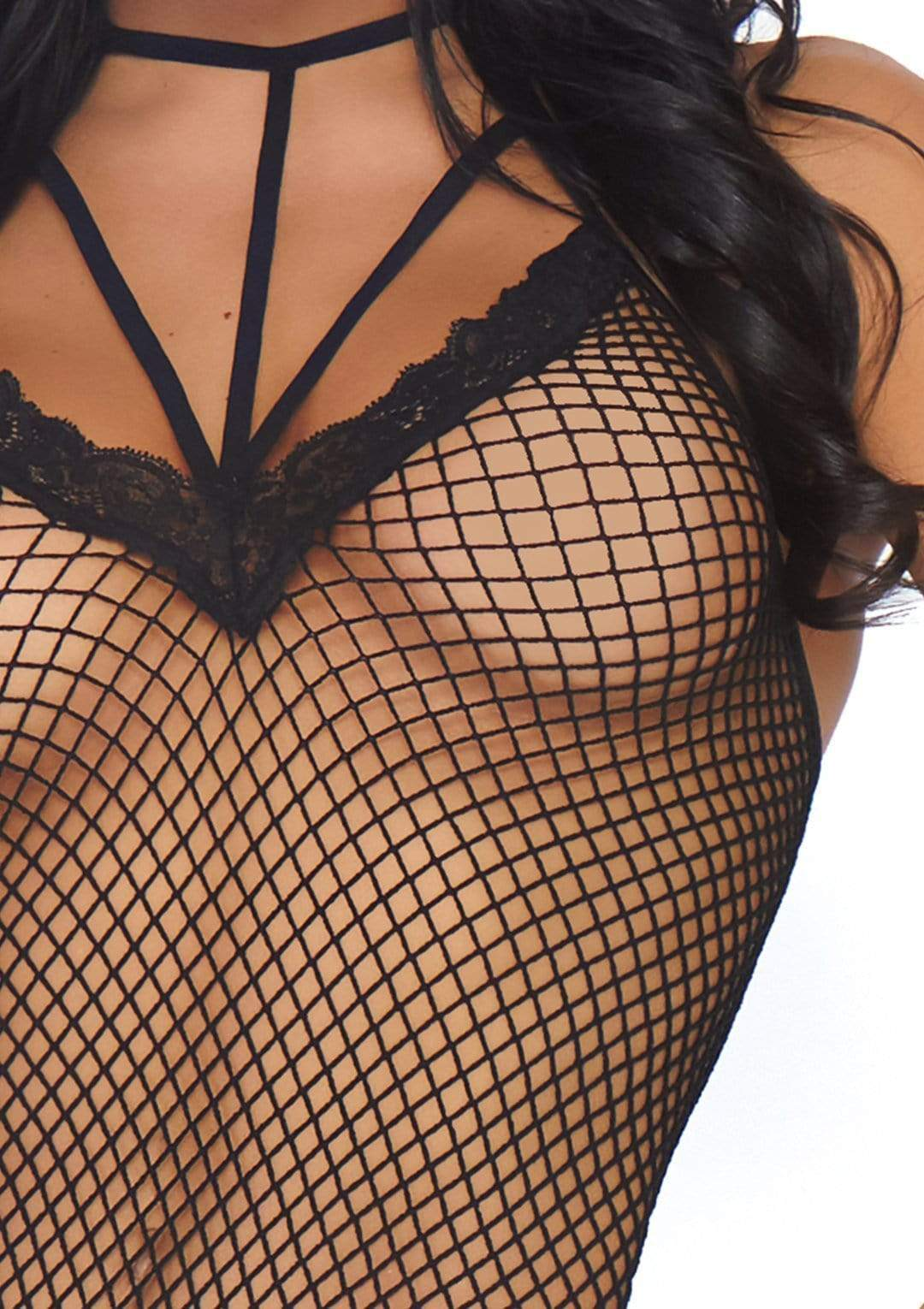 Legavenue Fishnet Thong Teddy